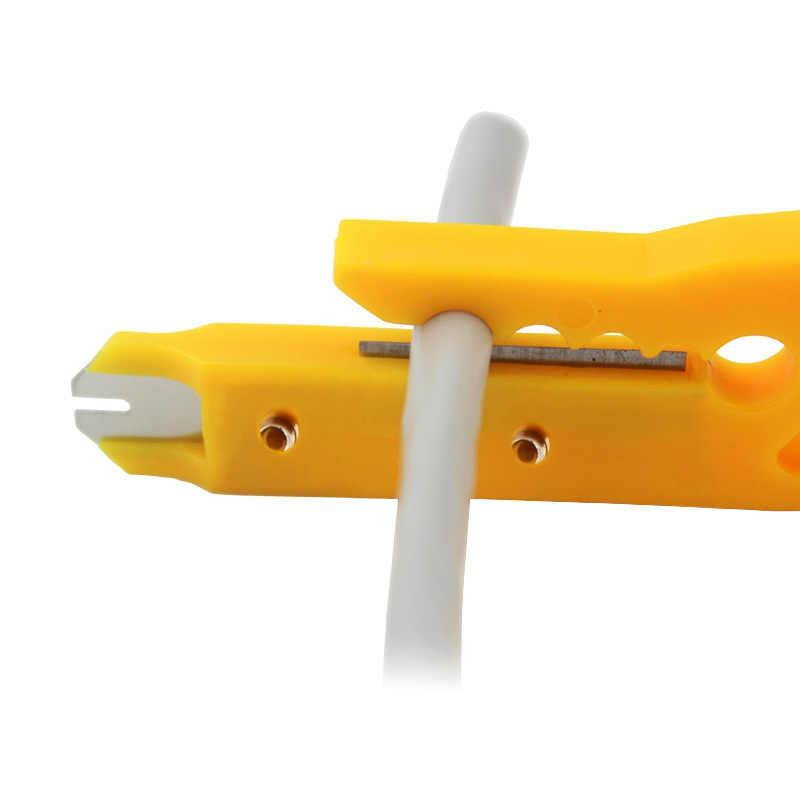 Mini przenośny szczypce do zdejmowania izolacji nóż szczypce do zaciskania narzędzie do zaciskania ściąganie izolacji z kabla linia cięcia kieszeni Multitool przecinak do drutu narzędzia wielofunkcyjne