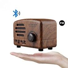 Retro Bluetooth Speaker FM Radio Wireless Portable Mini Super Bass Music Loudspeakers 2 Channel for Computer Phone Support TF