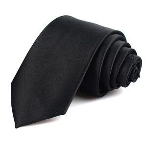 Черные галстуки для мужчин и женщин, повседневные Костюмы, однотонные Галстуки, узкие мужские галстуки для бизнеса, свадьбы, тонкие мужские ...