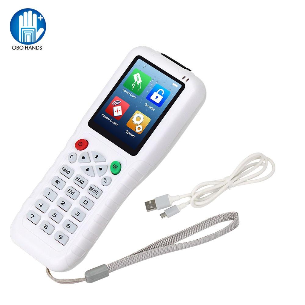 RFID Duplicator 13.56 IC/ID Card Reader Writer Cloner 125KHz Programmer Copier Multi Frequency T5577 UID Rewritable Key Fob USB