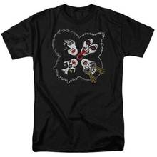 Kiss Rock And Roll Over Partial Album Cover Adult T Shirt Heavy Metal Music