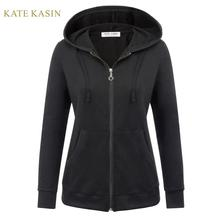 Kate Kasin Women's Casual Zip Up Hoodies Jacket Co