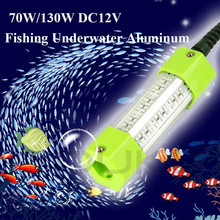 70W 130W LED Underwater Light Lamp Aluminum DC 12V IP68 Waterproof High Power Fish Attracting Lure Submersible Fishing Led Light