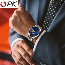 OPK Men Watch Fashion Quartz Watch With Dual Calendar Simple Watch Luxury Waterproof Business Wristwatch Cozy For Men Watch(China)