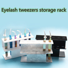 Professional Acrylic Eyelash extension tweezers display Storage Holder 6pcs Tweezer Stand Positions eyelash tools