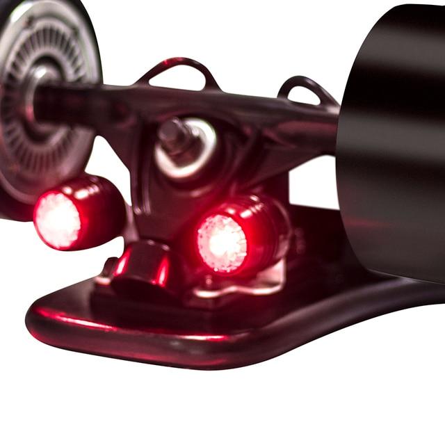 Koowheel skate luzes de led noturnas, 4 peças, luz de aviso de segurança para 4 rodas skate longboard