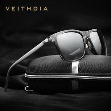 VEITHDIA marque lunettes de soleil unisexe rétro aluminium + TR90 lunettes de soleil polarisées lentille Vintage lunettes de soleil pour hommes/femmes 6108