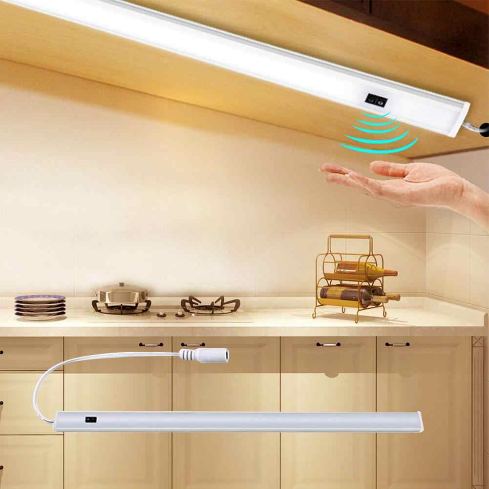 Barra de luz infrarroja de inducción de aleación de aluminio con luz LED de 12V CC para armario de dormitorio