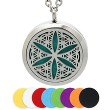 BOFEE Aromatherapy Diffuser Necklace Pendant Crystal Chain Fashion Stainless Steel Perfume Essential Oil Locket Jewelry Gift