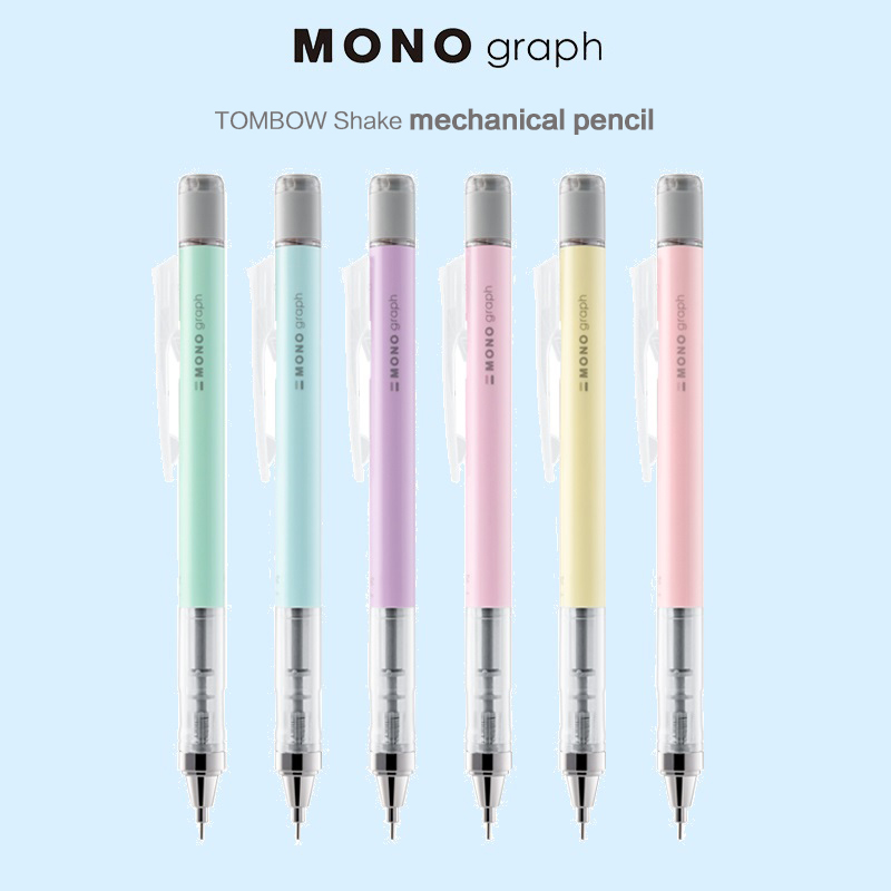 1pc 0.3mm 0.5mm TOMBOW MONO Graph Shake Out Lead Mechanical Pencil Cute Automatic Pencil Creative Modeling Student Stationery