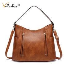New Vintage PU Leather Luxury Shoulder Bags Women Bags Designer Ladies HandBags for Women Brand Messenger Bags Female Bags Totes