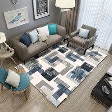 Nordic ковры Семейные ковры для дома Гостиная чайный коврик для стола Одеяло современный простой геометрический прикроватный коврик