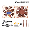 Высокое качество Noctua NF-A4x10 FLX 40 мм 12 В 5 в 40X40X10 Вентилятор охлаждения 4010 бесшумный кулер вентилятор Радиатор 3d принтер запчасти для ENDER 3