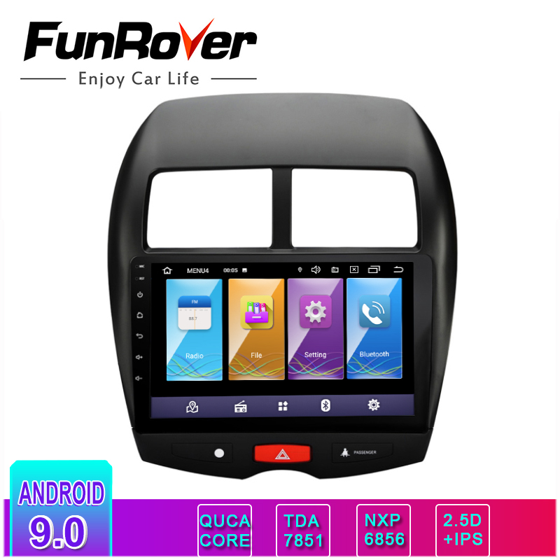 Funrover ips + 2.5d android9.0 carro dvd 10.1