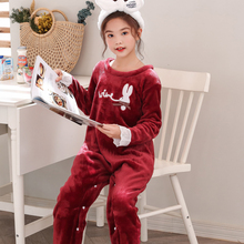 Кигуруми пижамы единорог девочек подростков зима мультфильм Аниме животных комбинезоны детская одежда для сна фланелевый теплый комбинезон детские пижамы