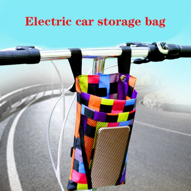 Cycling Waterproof Front Storage Bike Basket Mobile Phone Water Cup Bag  Storage