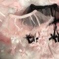 Nette Sexy Gaze Mini Rock Kawaii Frauen Spitze Exotische Strümpfe Strumpfband Hohl Perspektive Net Bogen Oberschenkel-Highs Strümpfe