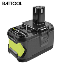 BATTOOL  For Ryobi 9000mAh 18V P108 Li-Ion Rechargeable Power tool battery Replacement RB18L40 P107 P104 BIW180 znter battery for ryobi 18v 6000mah p108 rb18l40 lithium ion rechargeable battery pack power tools battery ryobi one