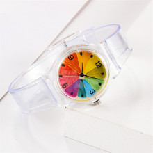 Creative Fruit Pattern Watch Seven Color Silicone Student Sp