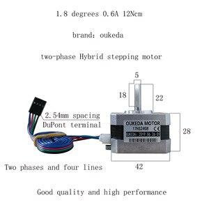 Image 3 - 50 Cái/lô 17HS2408 4 Đầu Nema 17 Động Cơ Bước 42 Xe Máy 42 Bygh 0.6A CE Rosh ISO Laser CNC xay Xốp Huyết Tương Cắt