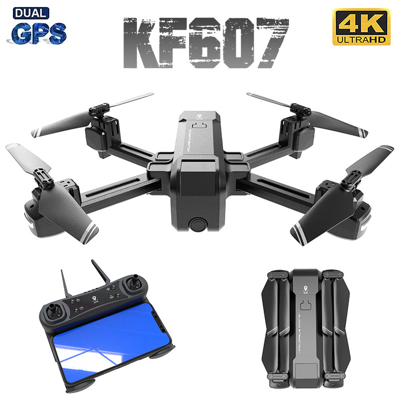 XKJ KF607 Drone With 5G WiFi FPV 1080P 4K 120 Degree Wide-angle HD Camera GPS Positioning RC Flodable Quadcopter(China)
