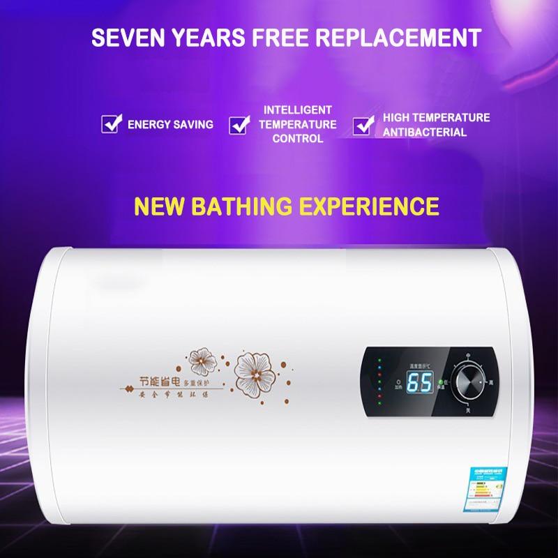Horizontal Household Electric Water Heater Water Storage Type Quick-heat Bather 40L 50L 60L 80L100L Digital Display Water Heater