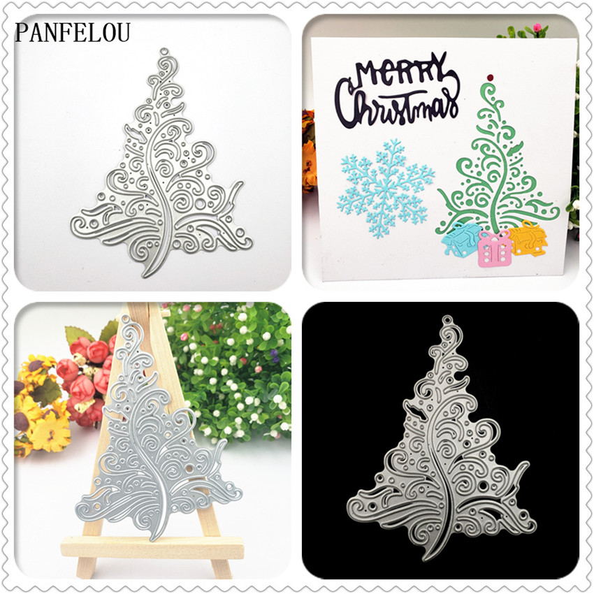8.2x11cm Christmas happy New Year Snow pine Carbon Steel Cutter paper die cutting dies Scrapbooking/DIY Embossing cards