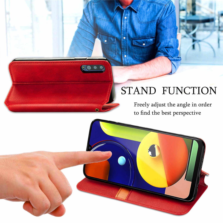 Lüks Flip Case Samsung Galaxy S9 artı S10E S20 Ultra A10 A20 A30 A50S A11 A31 A41 A51 A71 a81 deri standı cüzdan kapak