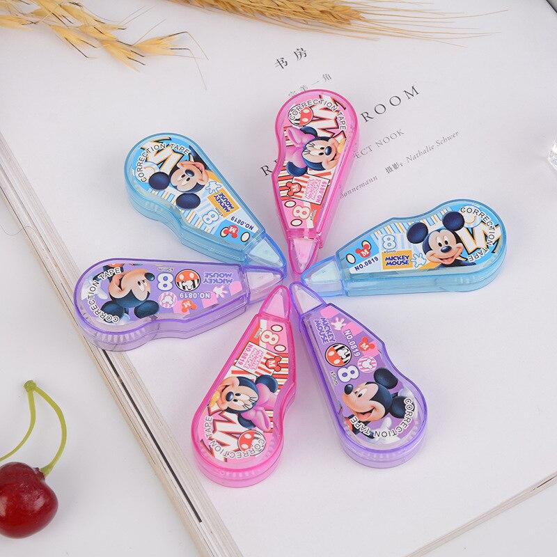 Disney Mickey Minnie Student Mini Creative 8m Correction Tape Office Student Supplies Cartoon Correction Supplies