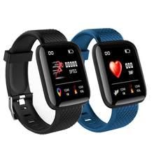 ساعة ذكية الرجال النساء Smartband قياس ضغط الدم مقاوم للماء جهاز تعقب للياقة البدنية سوار مراقب معدل ضربات القلب Smartwatch