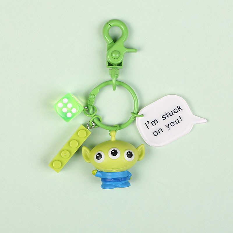 Novo Filme Da Disney Toy Story 4 Chaveiro Alienígena Woody Jessie Woody Buzz Lightyear Figura de Ação DO PVC Brinquedos Anel Chave para presente das crianças