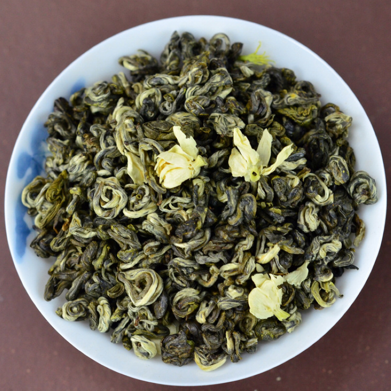 China High Mountains Baihao Jasmine Flower Biuochun tea Chinese Moutain Bai Hao Bi Luo Chun Jasmine Flower Green tea