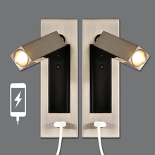 Zerouno Wall Sconces USB Charger CREE 2W Wall Ressessed Light Fixtures Head Adjustable Wall Lamp Industrial Loft Decor Lamps