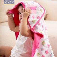 Elinfant  78*78cm 1 pcs baby kids hooded bath towel / cartoon baby bathrobe / bath essential/ baby blanket