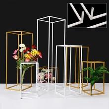 10 sztuk partia ślub rekwizyty kwiat wazon wazony podłogowe kolumna ślub etap dekoracji ozdoby trójwymiarowe geometryczne box road tanie tanio CN (pochodzenie) Wrought iron Ślub i Zaręczyny przyjęcie urodzinowe