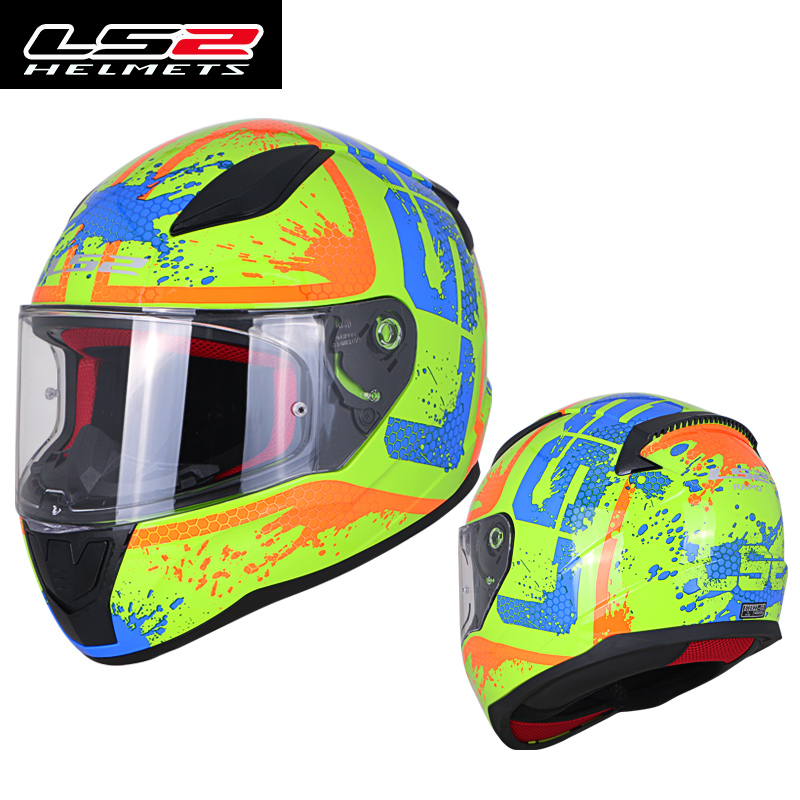 Original LS2 FF353 Full Face Motorcycle Helmet ABS Safe Structure LS2 Rapid Street Racing Helmets ECE Approval