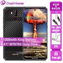 "OUKITEL K13 פרו 6.41 ""19.5:9 אנדרואיד 9.0 נייד טלפון MT6762 4G RAM 64G ROM 5V/6A 11000mAh OTA NFC טביעת אצבע 4G Smartphone"