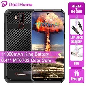"""Image 1 - OUKITEL K13 Pro 6.41 """"19.5:9 Android 9.0 cep telefonu MT6762 4G RAM 64G ROM 5V/6A 11000mAh OTA NFC parmak izi 4G Smartphone"""