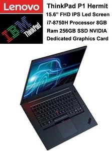 Lenovo Laptop ThinkPad P1 Hermit 15.6 Inch FHD Anti-glare Display i7-8750H 8GB 256 SSD NVIDIA 4GB DDR5 Dedicated Graphics Card