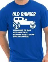 80th oitenta homens idade 80 aniversário engraçado t camisa velho banger tamanho s xxl