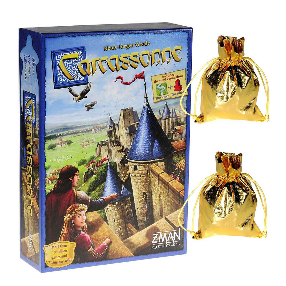 Winter Edition Carcassonne Board Game Cards Durable Sturdy Party Playing Card For Players Over 7 Years Old Family Funny Toy Gift