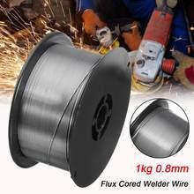 Fil à souder à noyau de Flux, pour Machine à souder MIG gaz et sans gaz, 1KG, rouleau 0.8mm