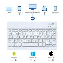 Teclado bluetooth para ipad tablet, teclado para ipad ios, inglês, francês, espanhol