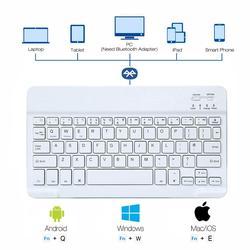 10-дюймовая Bluetooth-клавиатура для iPad, планшета, Android, IOS, русский, английский, французский, итальянский, испанский язык