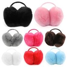 Adult Children Ear Cover Fuzzy Faux Fur Antifreeze Earmuffs Plush Folding Loveliness Comfortable Fashion Winter Warm Earmuff