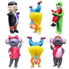 Nieuwe Volwassen Kids Party Kostuums Opblaasbare Kostuums Jurk Up Funny Carry On Kerstman Broek Halloween Carnaval Xmas Clown Kostuum