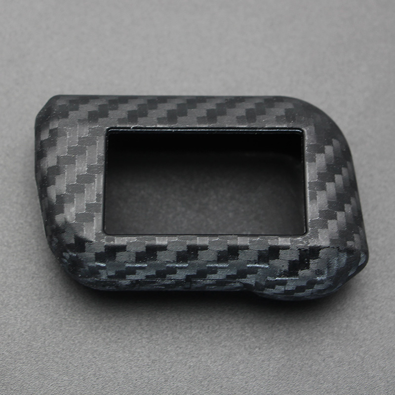 Carbon Fiber Rubber Car Key Case For Starline A93 A63 A36 A39 A66 A96 2 Way Car Alarm LCD Remote Control Silicone Cover