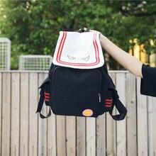 Female Backpack School Bag Japanese Anime Kinomoto Sakura Schoolbag Bookbags Canvas Travel Mochilas Knapsack