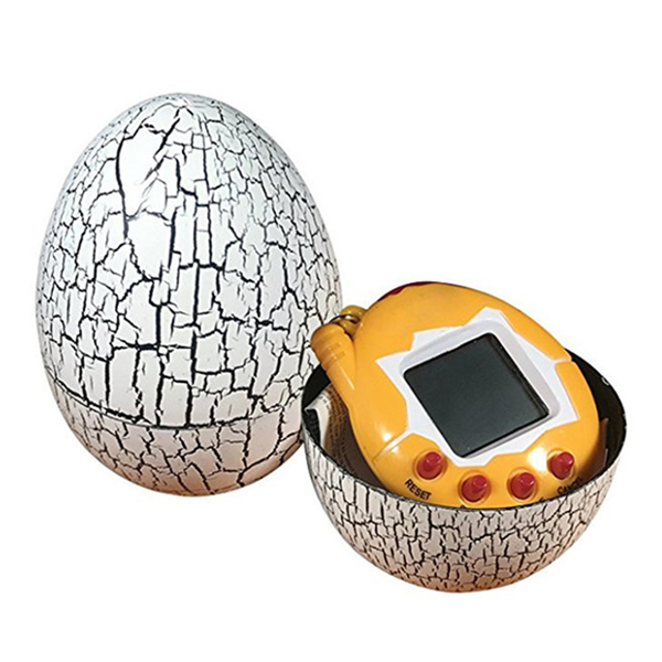 Electronic Pets Child Toy Key Digital Pets Tumbler Dinosaur Egg Virtual Pets White