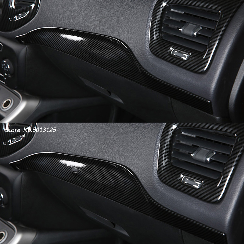 Car Central Console Co-pilot Trim For <font><b>Jeep</b></font> <font><b>Compass</b></font> 2017 2018 <font><b>2019</b></font> Interior Kits Copilot Passenger Side Panel Decoration image
